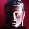 Buddha carving from ancient wood