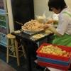 Making shrimp dumplings