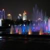 Lake park in city center